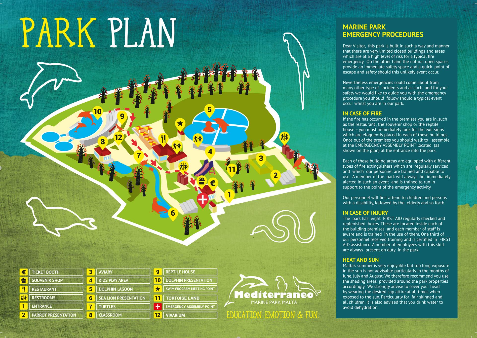 Mediterraneo Marine Park Malta Plan/Map
